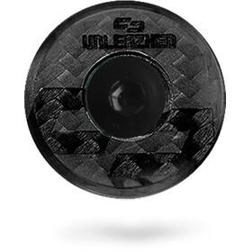 UNLEAZHED Unloose CF01 Carbon Top Cap, czarny
